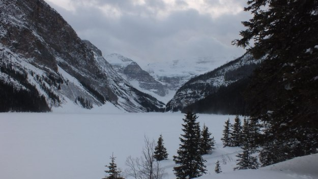 Lake Louise in winter at Banff National Park, in Alberta, Canada