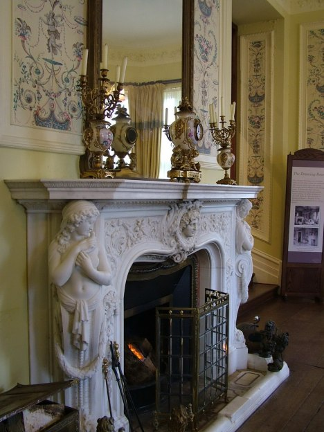 fireplace inside kylemore abbey_County Galway_Ireland 3