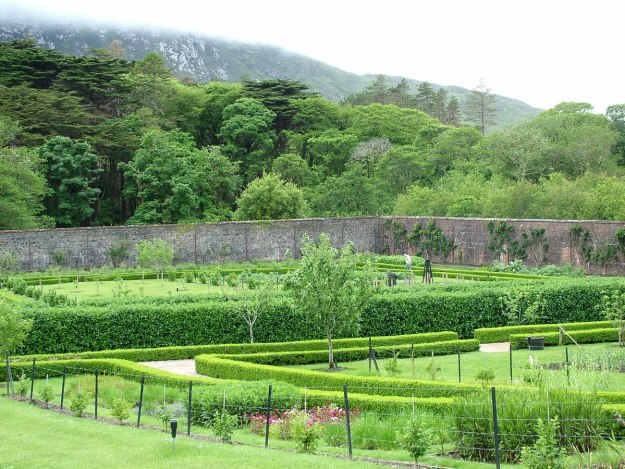The Walled Victorian Gardens at Kylemore Abbey in County Galway, Ireland