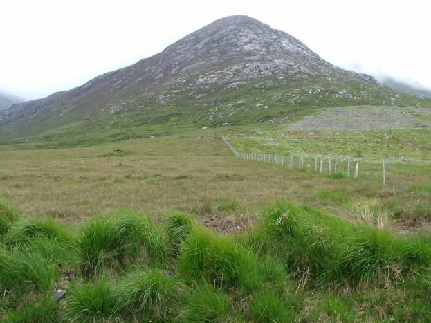 benglenisky mountain - Binn Ghleann Uisce - along minor road near emlaghdauroe - co galway ireland