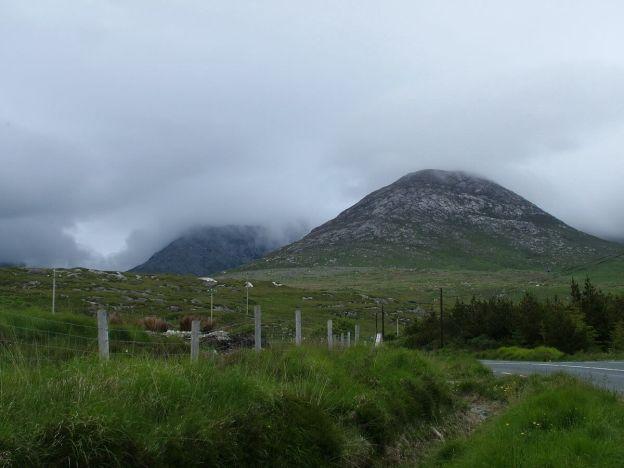 benglenisky mountain along minor road near emlaghdauroe - co galway - ireland