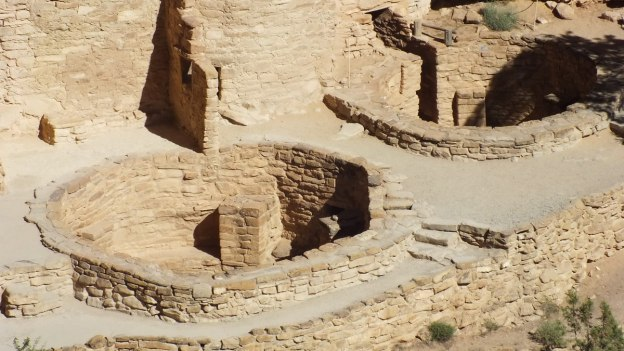 encircling kiva at cliff palace - mesa verde national park - colorado