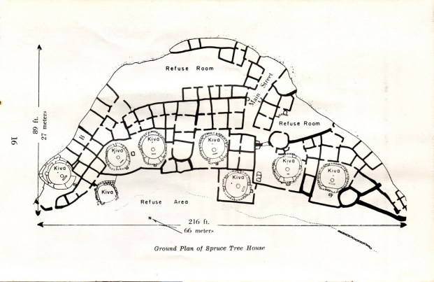 spruce tree house floor plan at mesa verde national park - colorado