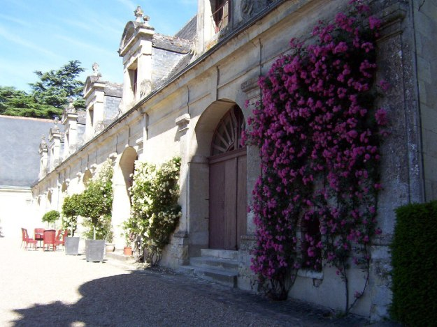 An image of the former horse stables at Chateau de la Bourdaisiere in the Loire Valley, France.