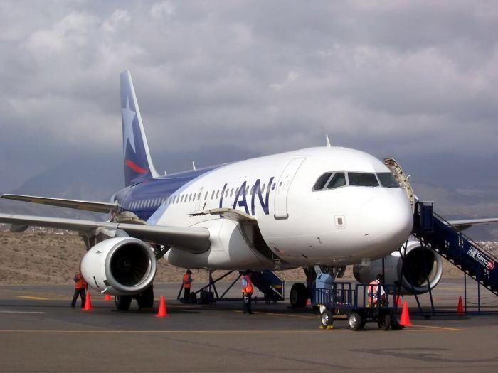 Lan aircraft in arequipa - peru