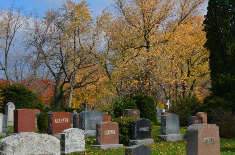 Woodland Cemetery in Burlington, Ontario, Canada