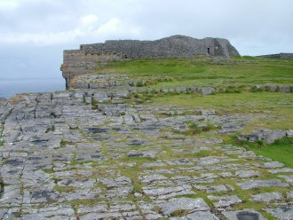 Image of the Dun Aonghasa Fort on Inishmore Island in Ireland