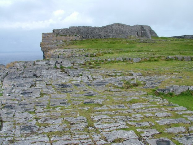 An image of the stone walls of Dun Aonghasa Fort on Inishmore Island, in Ireland. Photography by Frame To Frame - Bob and Jean.