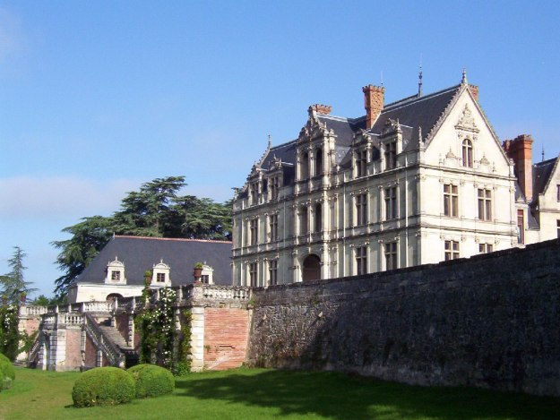 An image of the main building at Chateau de la Bourdaisiere in the Loire Valley, France.