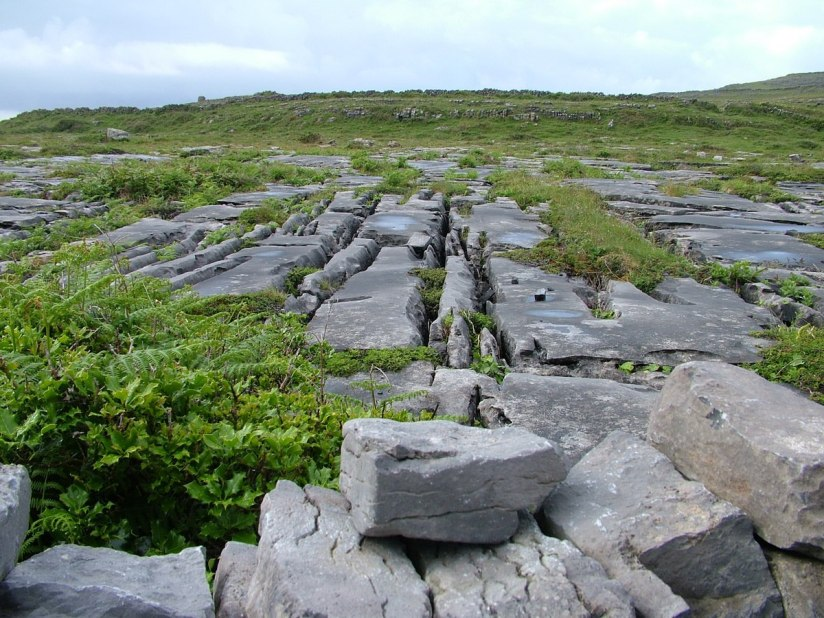 An image of the karst limestone beside Dun Aonghasa Fort on Inishmore Island, in Ireland. Photography by Frame To Frame - Bob and Jean.