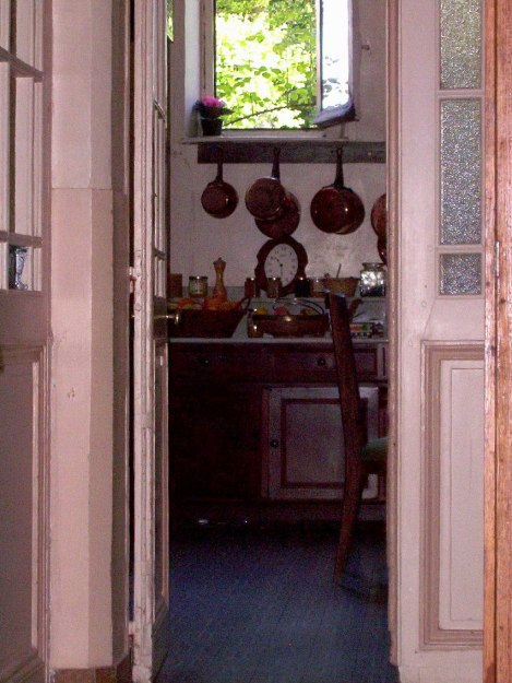 An image of a pantry room in Chateau de la Bourdaisiere in the Loire Valley, France.