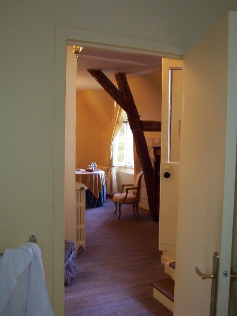 wooden supports in hotel room at Chateau de la Bourdaisiere - Loire Valley - France