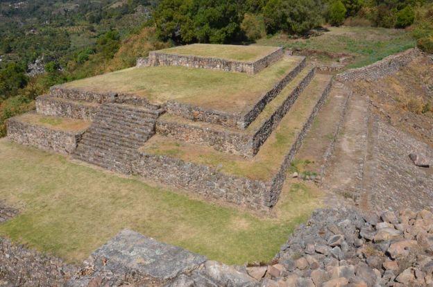 lesser pyramid of san felipe de los alzati, zitacuaro, mexico