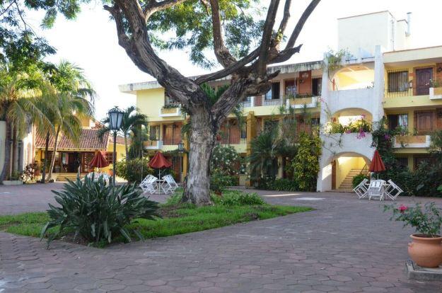 Hotel Garza Canela courtyard at San Blas, State of Nayarit, Mexico