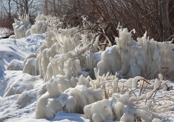 shoreline ice at tommy thompson park, toronto, ontario, 8
