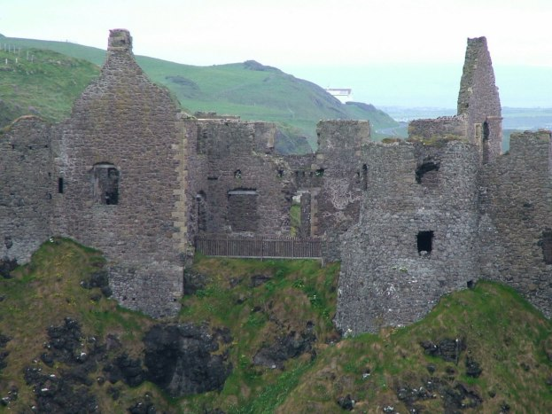 An image of the walls of Dunluce Castle in County Antrim, Northern Ireland. Photography by Frame To Frame - Bob and Jean.