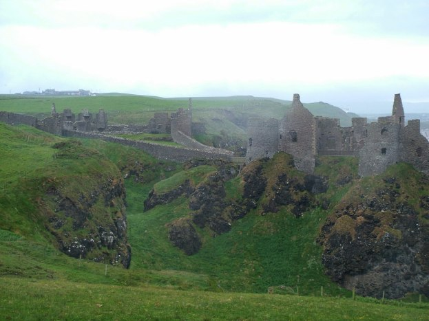 An image of a section of Dunluce Castle in County Antrim, Northern Ireland. Photography by Frame To Frame - Bob and Jean.