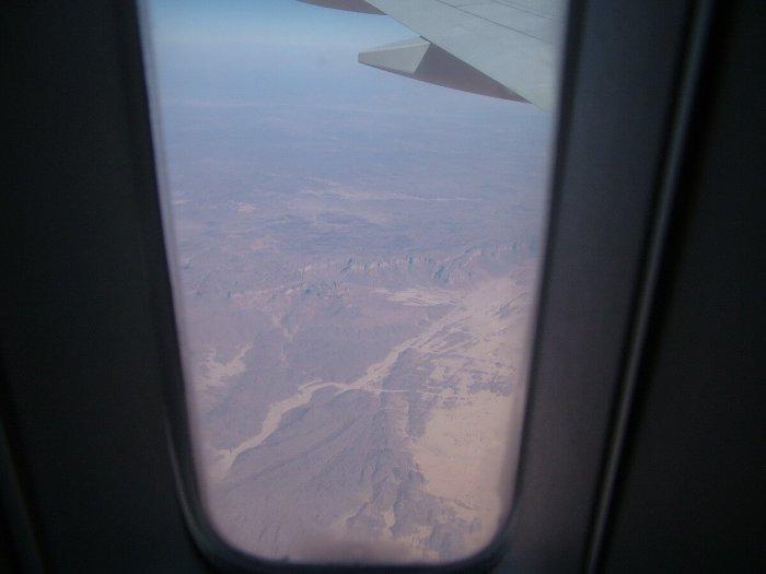 flight over sahara desert, africa