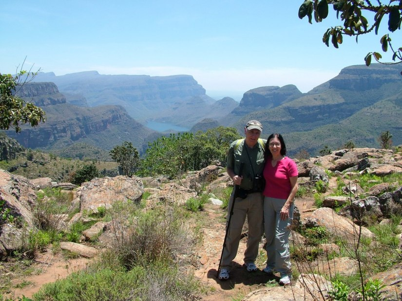 Jean and Bob at the Blyde River Canyon in South Africa