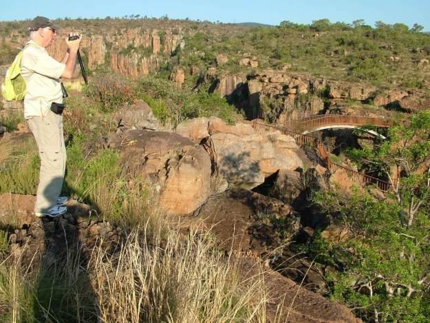 bob films bourkes luck potholes, Moremela, South Africa