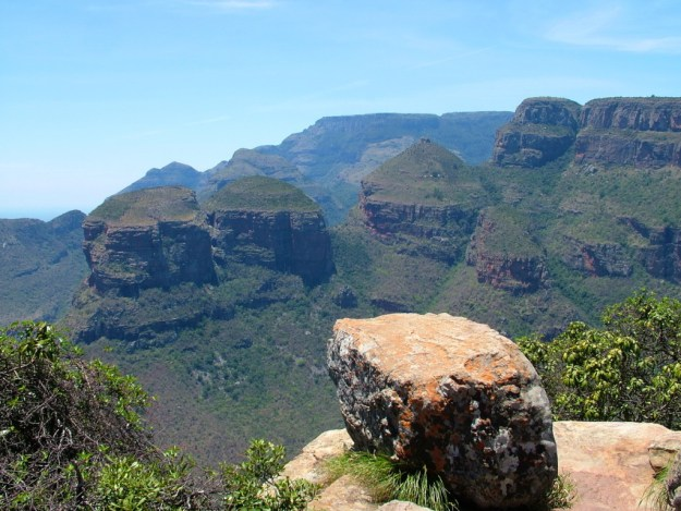 The Three Rondavels in Blyde River Canyon, in South Africa