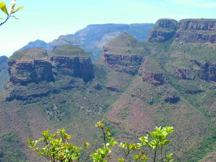 The Three Rondavels in the Blyde River Canyon, South Africa