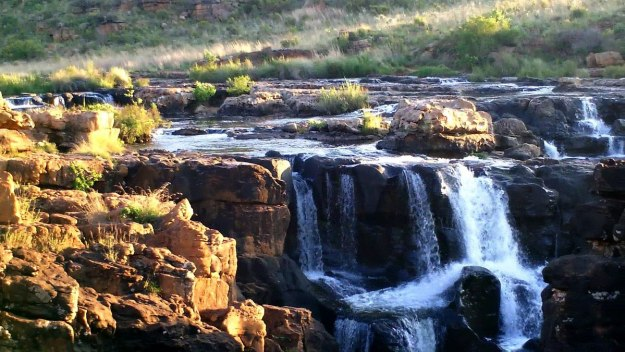 Waterfalls at Bourkes Luck Potholes in Moremela, South Africa