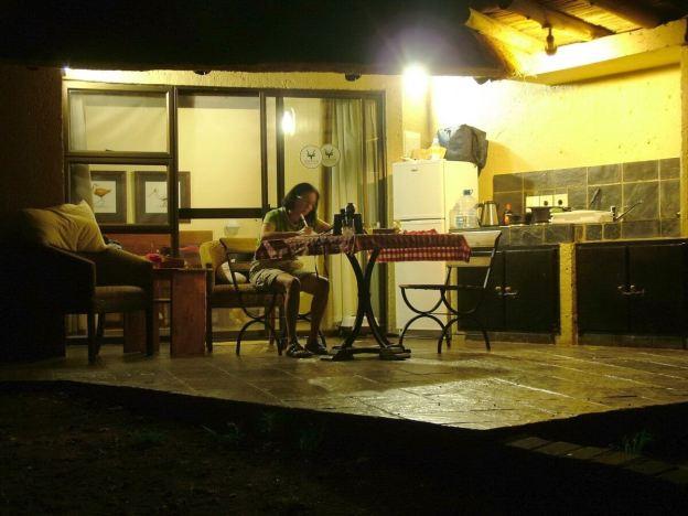 Night time at Skukuza Rest Camp in Kruger National Park, South Africa