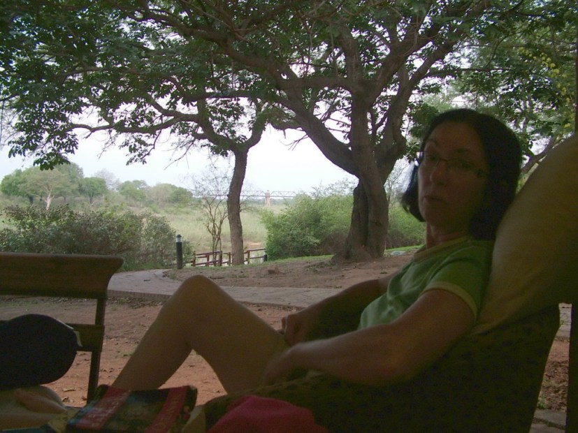 Time out at Skukuza Rest Camp, in Kruger National Park, South Africa