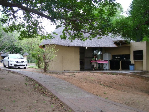 A Riverside bungalow at Skukuza Rest Camp in Kruger National Park, South Africa