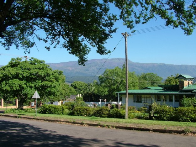 Street scene in Sabie, South Africa