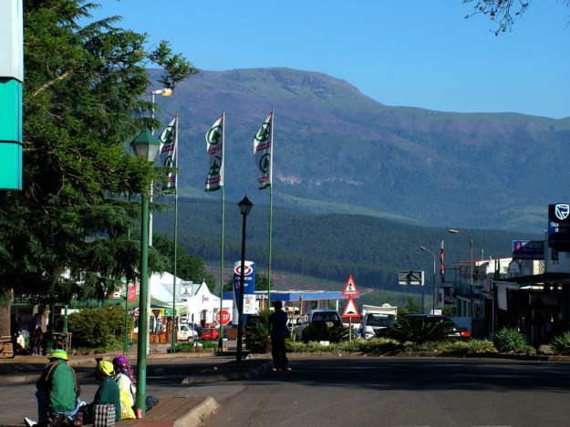 Main street in Sabie, South Africa