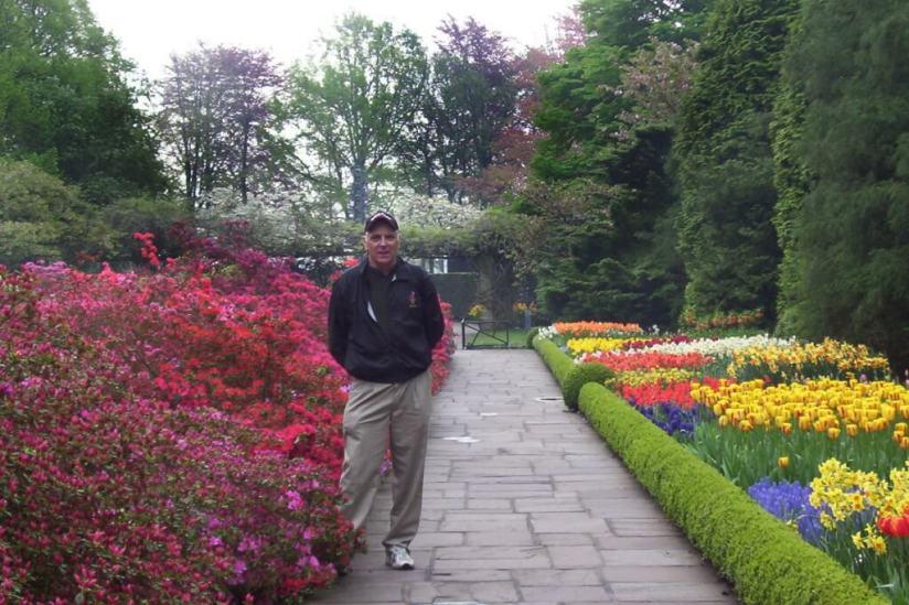 among the flowers at Keukenhof Gardens, holland