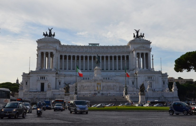 The Monumento a Vittario in Rome, Italy