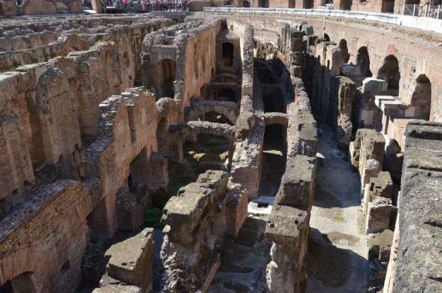 An image of the underground chambers in the Roman Colosseum in Rome, Italy.   Photography by Frame To Frame - Bob and Jean.