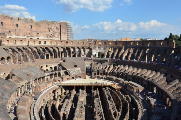 An image of the interior of the Roman Colosseum in Rome, Italy.   Photography by Frame To Frame - Bob and Jean.