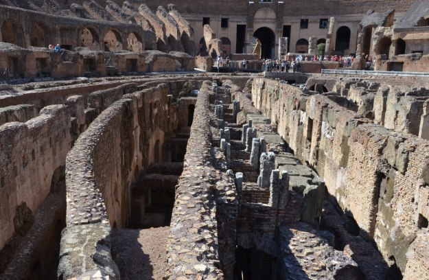 An image of the subterranean walls of the Roman Colosseum in Rome, Italy.   Photography by Frame To Frame - Bob and Jean.