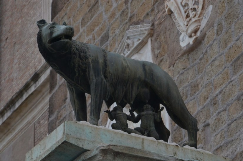 Romulus and Remus Statue in Rome, Italy