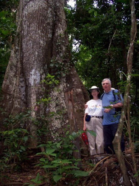 Bob and Jean in the rainforest at Sandoval Lake Lodge, Lake Sandoval, Amazon Delta, Peru