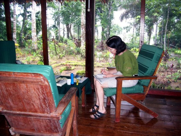 Time out at Sandoval Lake Lodge, Lake Sandoval, Amazon basin, Peru