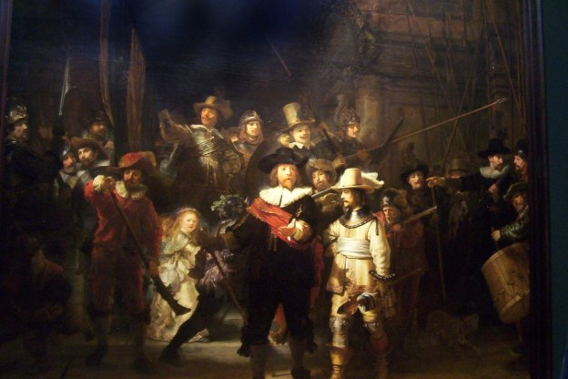 the night watch, by rembrandt van rijn, rijksmuseum, netherlands