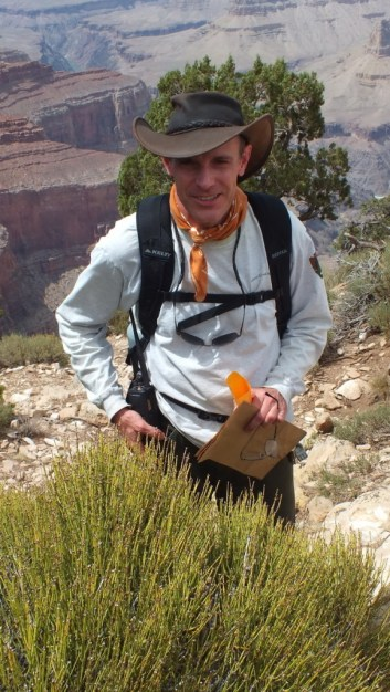 Park Botanist Dave on the South Rim at Grand Canyon National Park in Arizona, U.S.A.