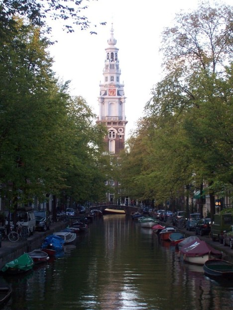 church steeple in Amsterdam