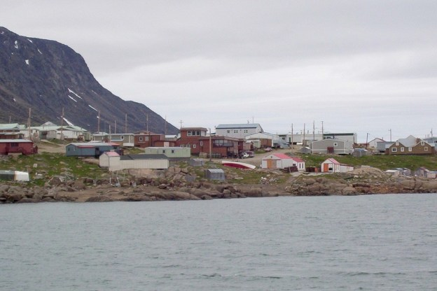photograph of the hamlet of Pangnirtung on Baffin Island in Nunavut, Canada