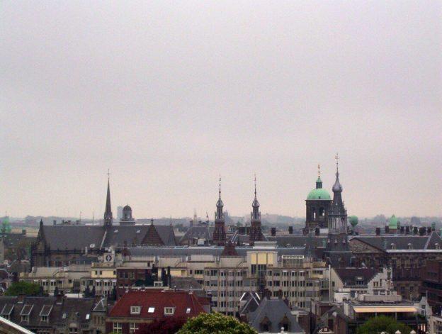 skyline in amsterdam, the netherlands