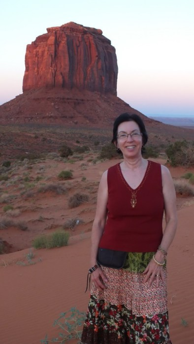 Jean standing in Monument Valley in Arizona, USA