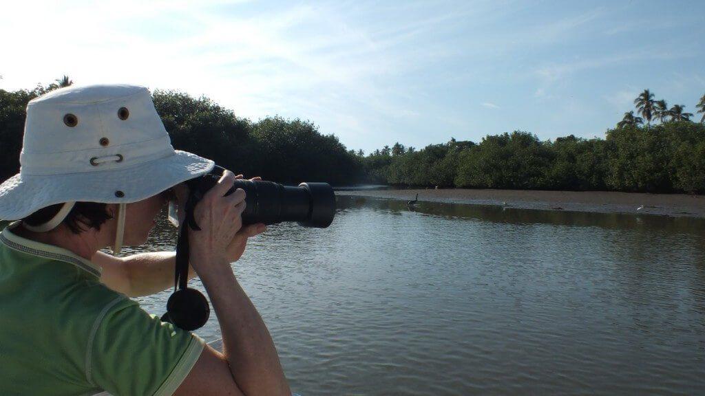 jean takes pictures aboard boat, along river near san blas, mexico, pic 6
