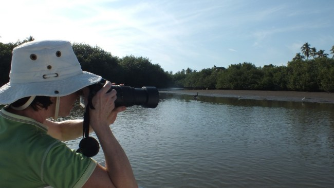 jean takes pictures aboard boat, along river near san blas, mexico, pic 6