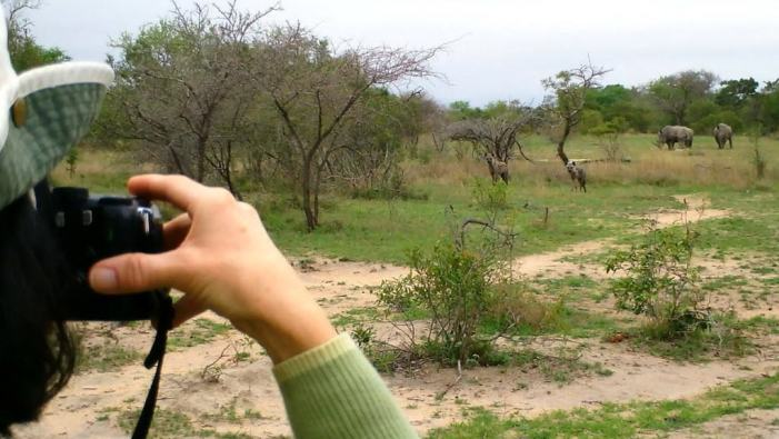 jean on armed safari, kruger national park, south africa, 2
