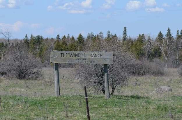 the windmill ranch sign, carden alvar, ontario